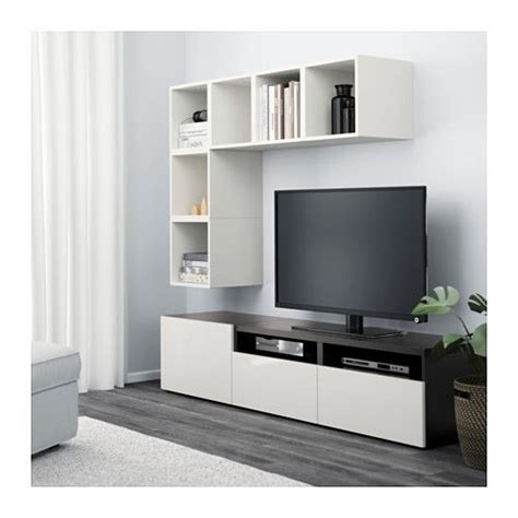 besta eket best 197 eket tv storage combination white black brown