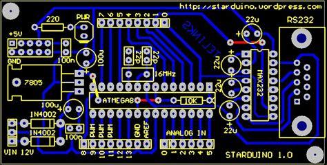 fungsi layout pcb layout pcb starduino starduino board