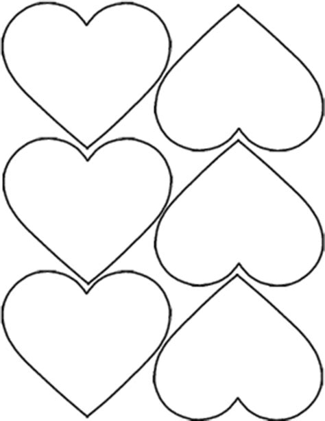 early play templates valentine heart templates