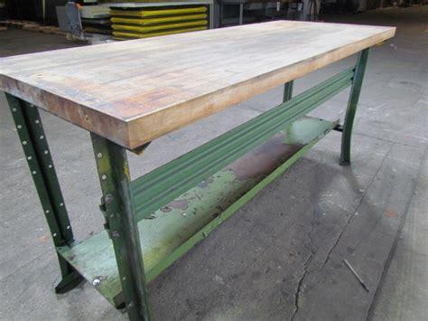 tall work bench butcher block top work bench 1 3 4tx28 1 2x72 34 1 4 quot tall