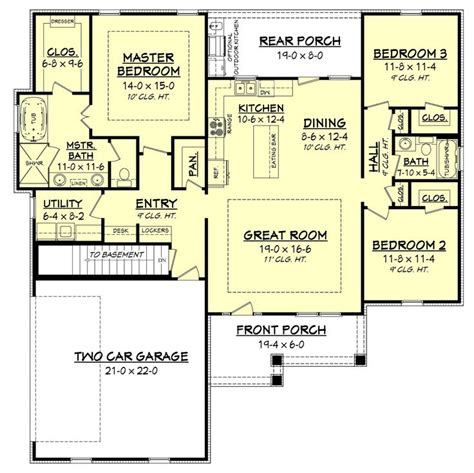 open concept bungalow house plans 25 best ideas about cottage house plans on pinterest