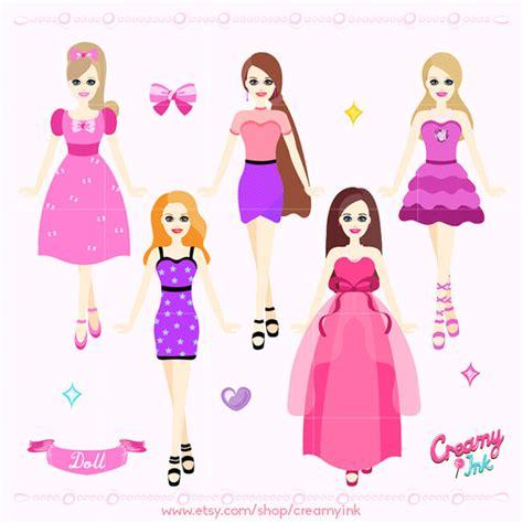 fashion doll vector doll digital clip fashion dolls digital clipart
