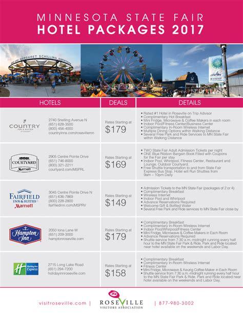 2017 Minnesota State Fair Hotel Packages Roseville 2017 minnesota state fair hotel packages roseville