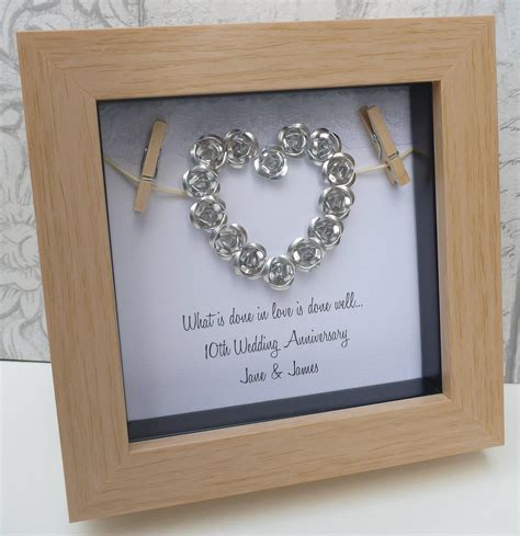 10th Anniversary Gift Ideas For by 10th Anniversary Gift 10th Wedding Anniversary Gift Tin