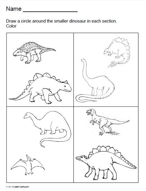 dinosaur pattern worksheet fall activity sheets for preschoolers learn curriculum