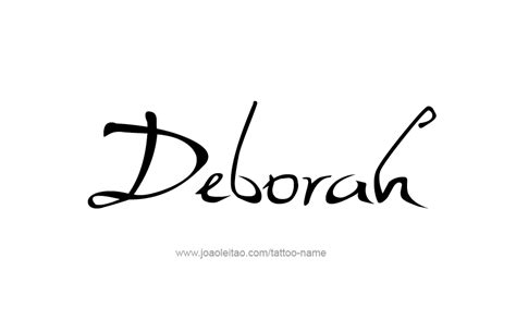 deborah name tattoo designs