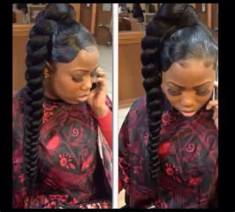 big french braids with swoop braiding ponytail weave updos weave updos