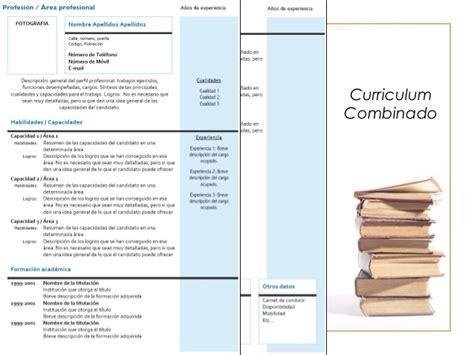 Modelo Curriculum Vitae Combinado O Mixto Presentaci 243 N Sobre Cv Usada En Orientaci 243 N Vocacional Sx