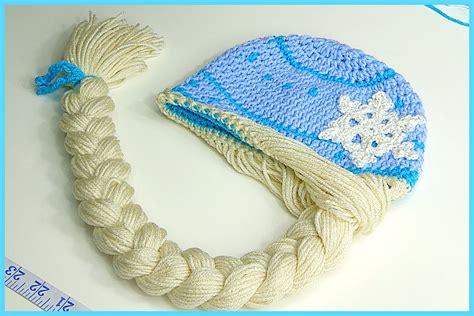 free pattern elsa crochet hat how to crochet elsa anna disney frozen princess braided