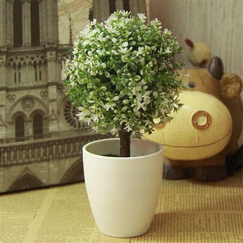 albero in vaso albero artificiale topiary 1pc in vaso palla piante