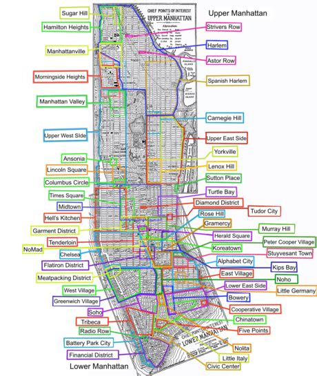 map of areas in nyc list of manhattan neighborhoods