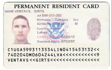 resident green card template green card diversity visa sle act