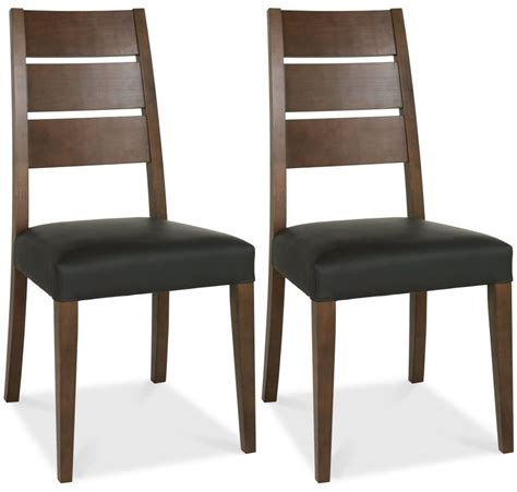 Chair Company Design Ideas Buy Bentley Designs Akita Walnut Dining Chair Brown Faux Leather Slatted Pair Cfs Uk