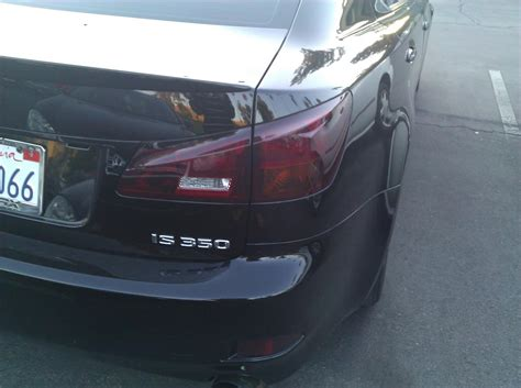 smoked out tail lights ca fs smoked out tail lights club lexus forums