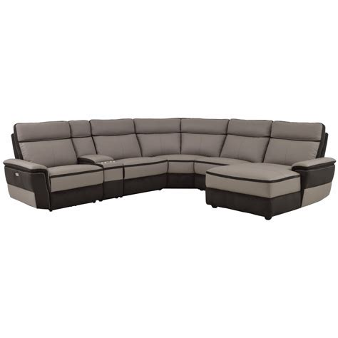 contemporary reclining sectionals homelegance laertes contemporary power reclining sectional