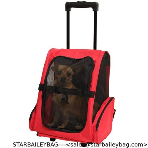 rolling carrier pet carrier cat rolling backpack travel tote bag airline approved