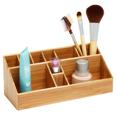 Bathroom Makeup Storage Bamboo Makeup Organizer The Container Store