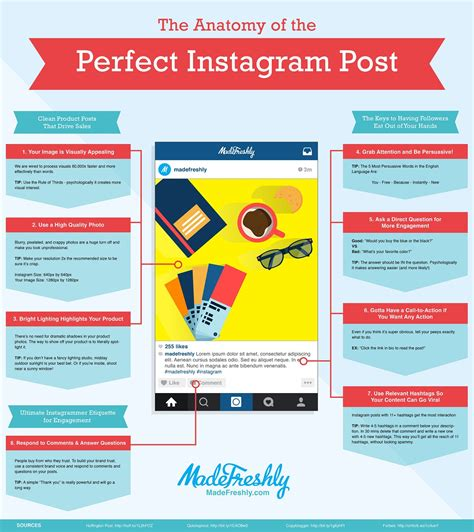 design instagram info infographic how to construct the perfect instagram post
