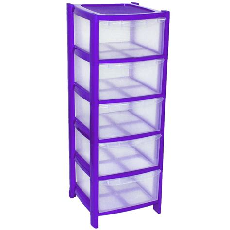 purple drawer plastic tower storage drawers chest unit