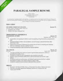 Sample Paralegal Resume Getessay Biz