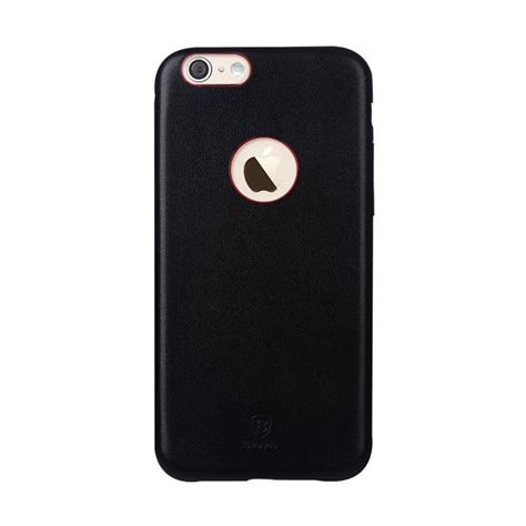 Baseus Leather Iphone 6 jual baseus thin leather for iphone 6 hitam