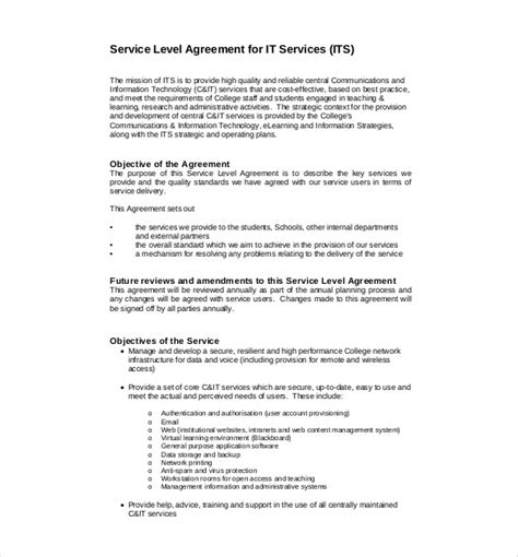 free service level agreement template service agreement template 10 free word pdf document