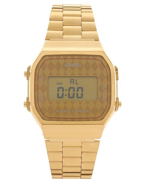 casio casio a168wg 9bwef digital quartz gold at asos