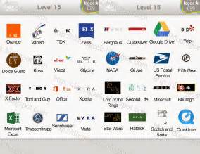 Logo quiz level 15 pack contains 60 logos the answers to all of them