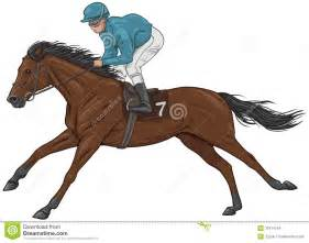 jockey on a brown racehorse stock images image 37914744