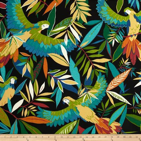 tropical upholstery tropical birds outdoor fabric richloom outdoor tucuman