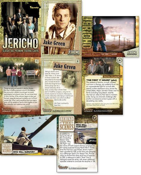 jericho season one autograph card skeet ulrich as jake green a1 ebay jericho trading cards 171 gino verna