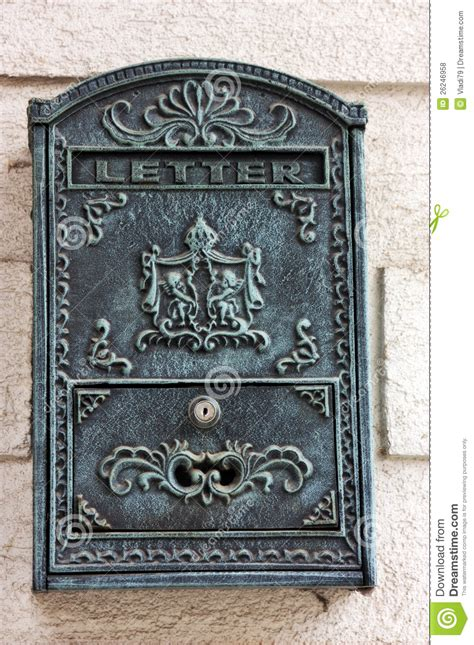 cassette postali antiche antique mail box stock photo image of mail container