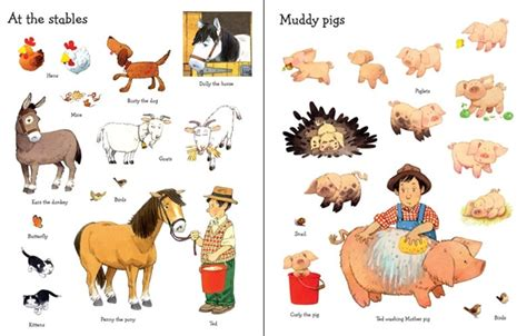 Soft Book With The Animals On Tree farmyard tales animals sticker book at usborne children s books