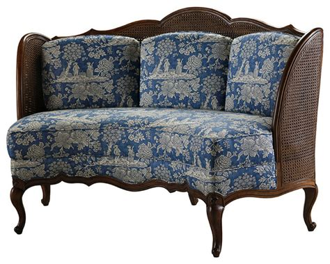 traditional settee pompadour banquette traditional sofas by highland house