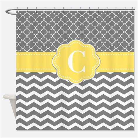 yellow and gray chevron shower curtain yellow gray shower curtains yellow gray fabric shower
