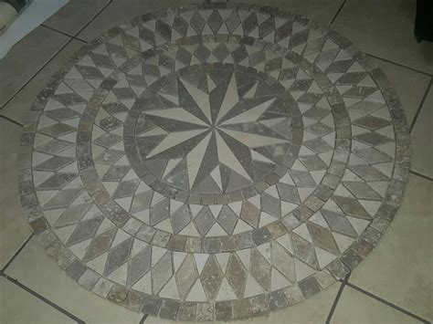 Mosaic Floor L Travertine Medallion Tile Tile Design Ideas