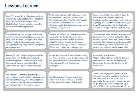 lessons learned best practices template produktkonfiguration mit cpq f 252 r effektiven vertrieb