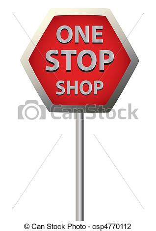 Onestop Search Vector Illustration Of Sign One Stop Shop Sign One Stop Shop Csp4770112 Search