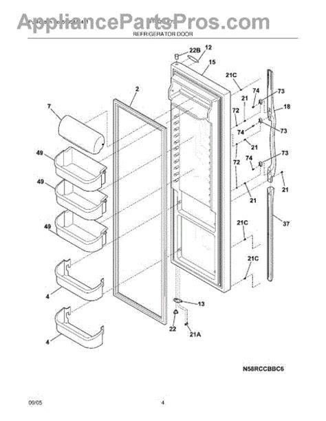 parts for frigidaire frs26lf7dsb refrigerator door parts
