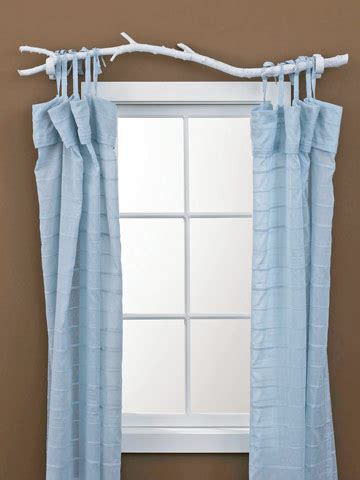 makeshift curtain rod dishfunctional designs branching out art decor from