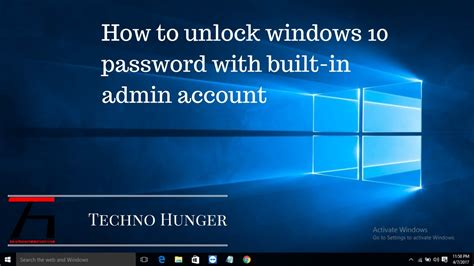 how to unlock windows 7 vista xp password how to unlock windows 10 password with built in admin