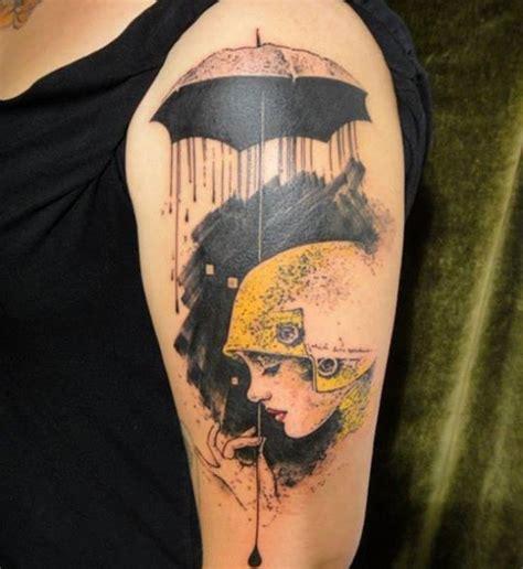 tattoo girl umbrella 22 awesome umbrella girl tattoos