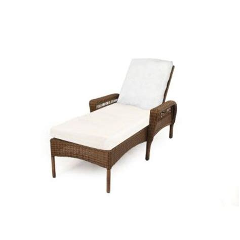 chaise lounge home depot hton bay spring haven brown all weather wicker patio