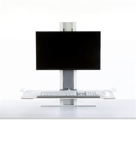 humanscale quickstand single monitor platform sit stand