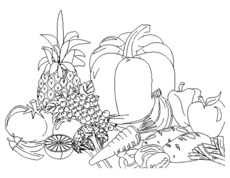 Fruits And Vegetables Coloring Pages Fruits And Vegetables Coloring Page