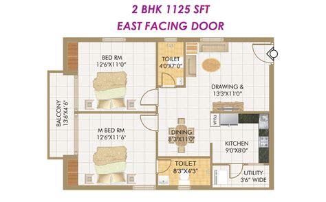 2bhk house plans outstanding 2 bhk small house design also plan east facing