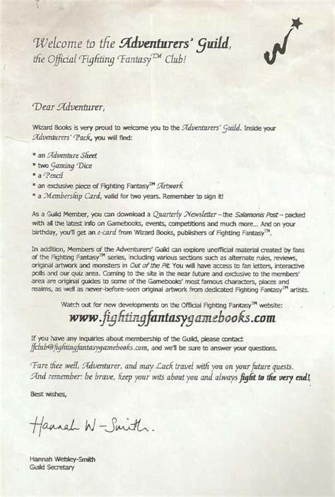 Exemple Lettre De Bienvenue Les Clubs Fighting
