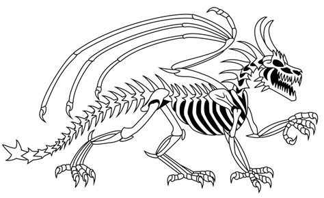 skeleton dragon coloring page dragon pictures images cliparts co