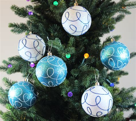 wholesale winter turquoise blue swirl ornaments buy