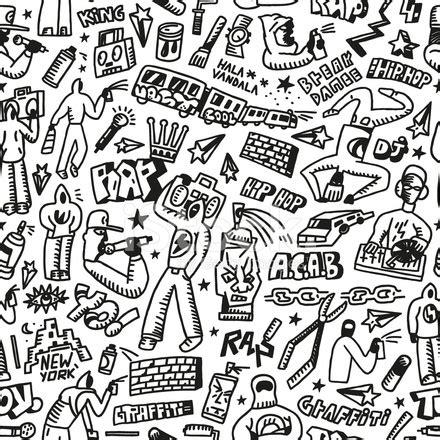 rap,hip hop ,graffiti seamless background stock photos
